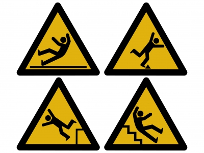 Signs indicating hazards can prevent slip trip and fall injuries