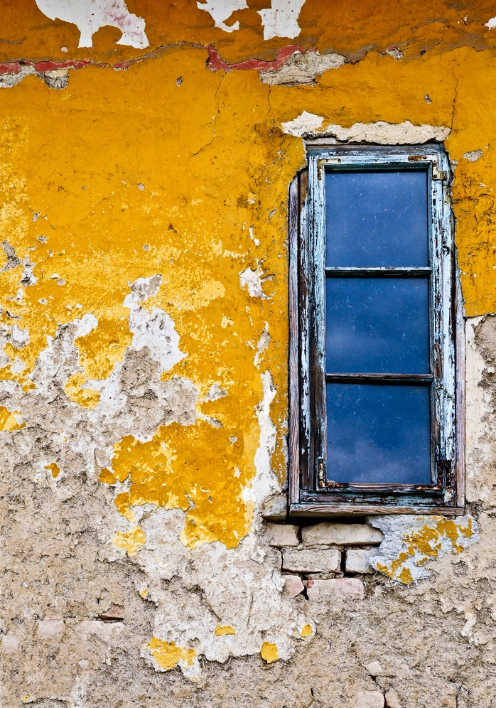 Crumbling window frames may have lead-based paint