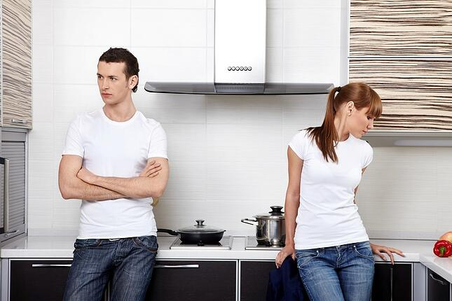 Couple divorcing in the workplace