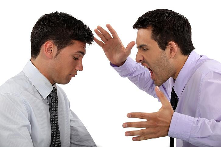 boss or coworker yelling at employee