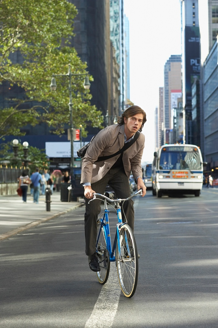 Bicyclists and cars must share urban roadways