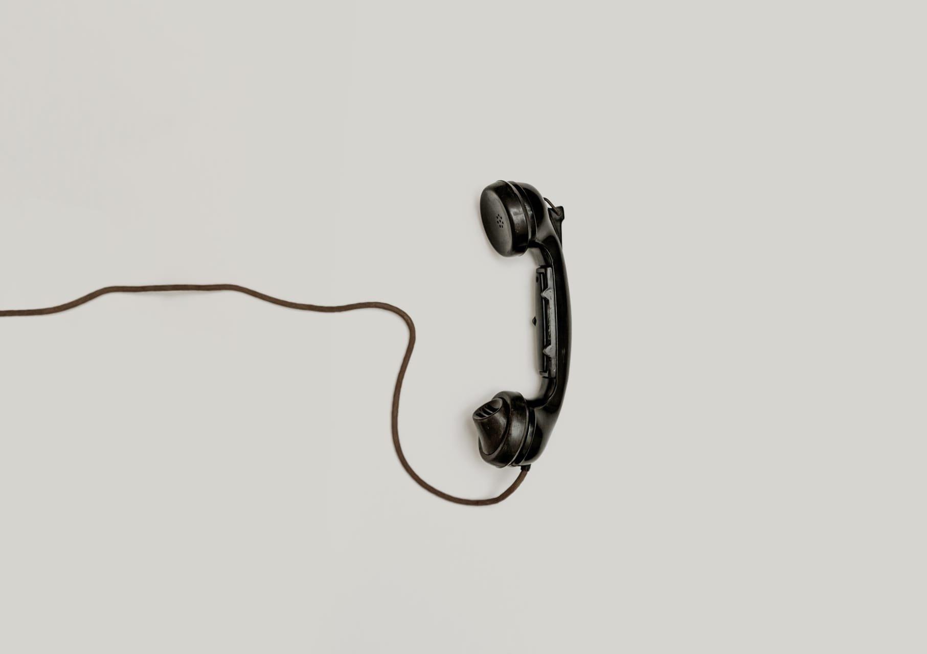 black-landline-phone