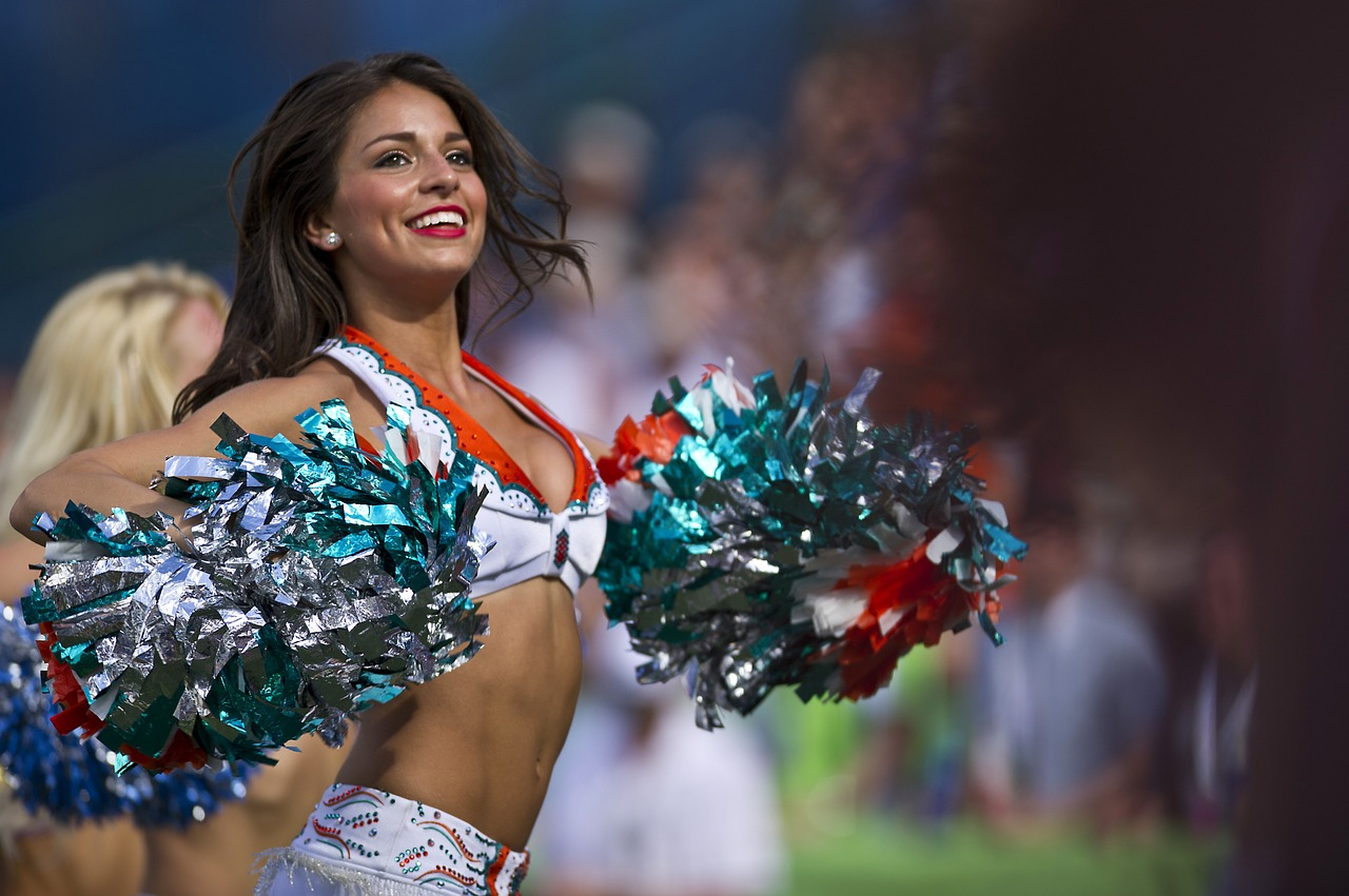 Professional cheerleaders in the NFL often make less than minimum wage.
