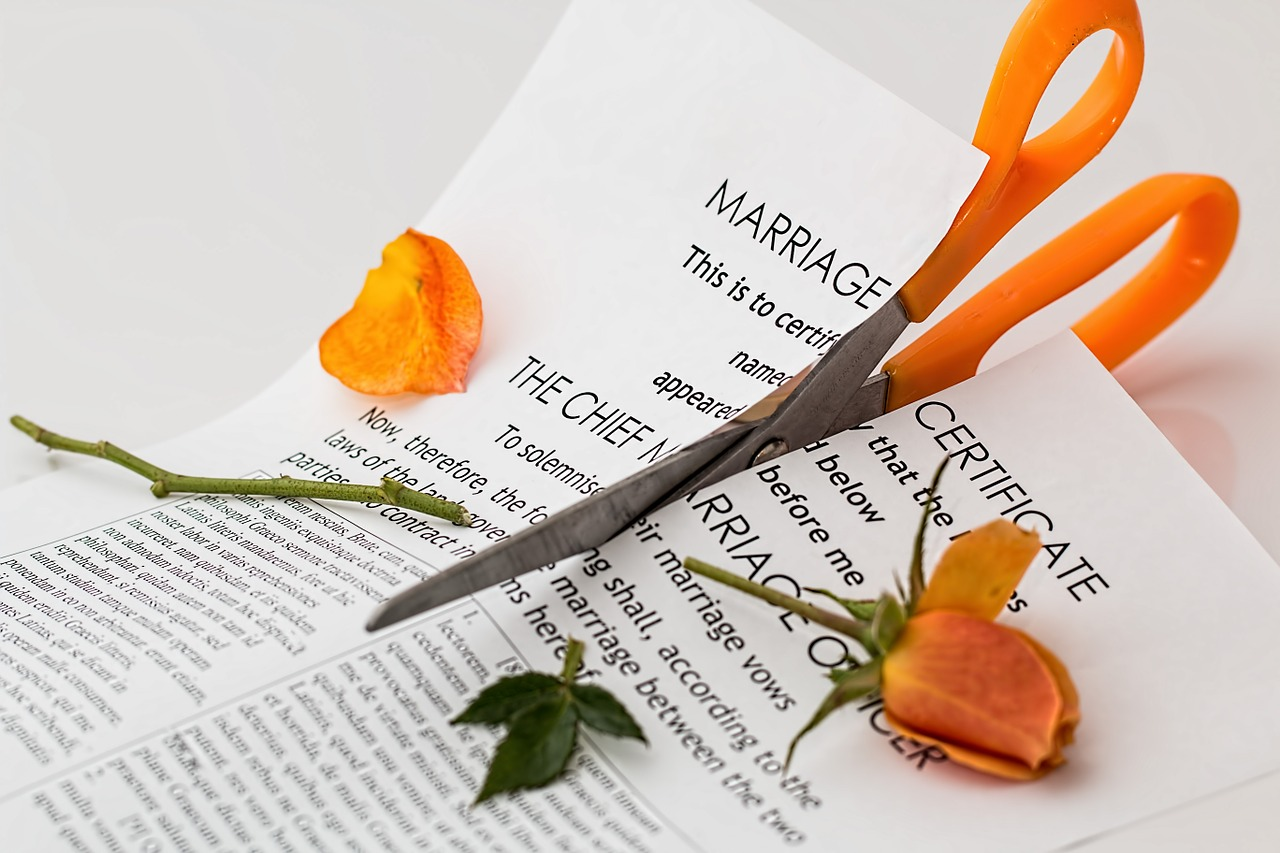 Divorce isn't as easy as cutting up your marriage certificate