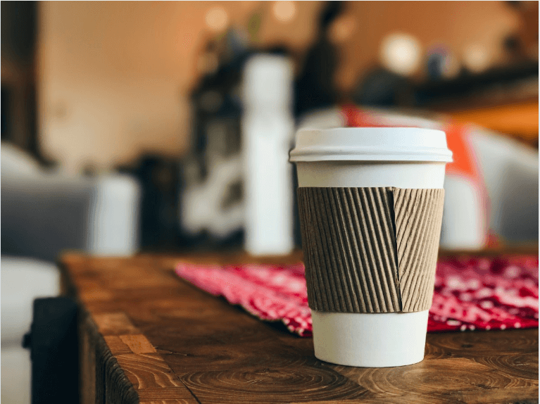 takeout coffee cup