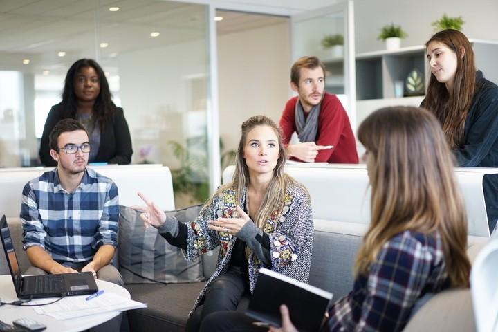 women men workplace